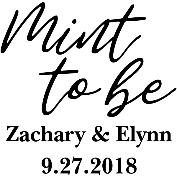 Mint to Be DIY Wedding Stamp