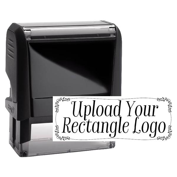 Rectangle Logo Custom Stamp with Vine Border
