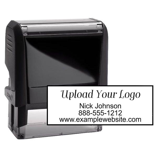Rectangle Logo Custom Stamp with Three Lines of Text