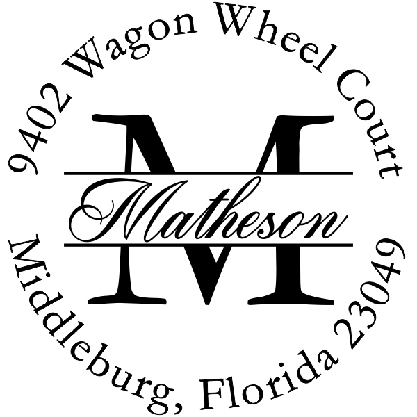 custom round letter address stamp