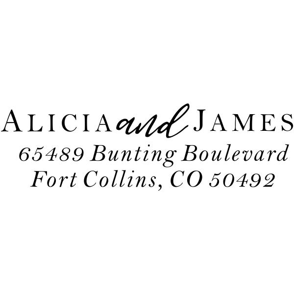 Alicia Return Address Stamp