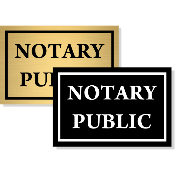 """Notary Public Sign   4"""" x 6"""""""