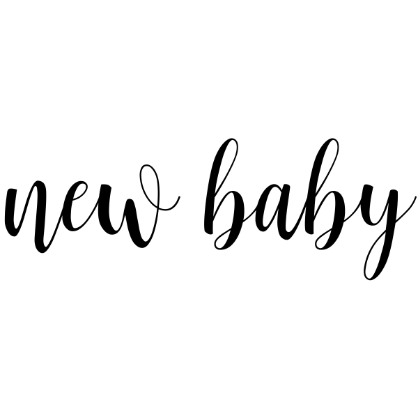 New Baby Cursive Craft Stamp