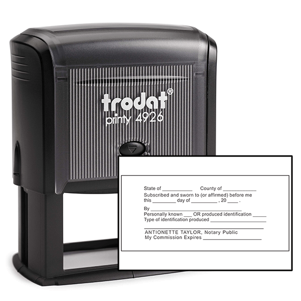 JURAT with Identification Notary Stamp