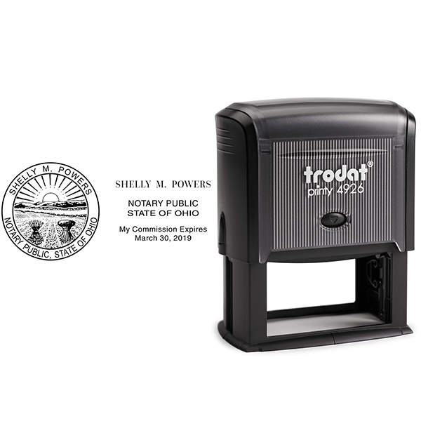 Ohio Notary Stamp - Rectangle Body and Design