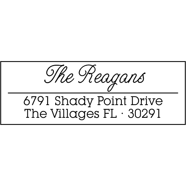 Villages Address Stamp