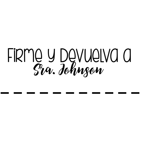 Sign and Return Spanish Teacher Stamp