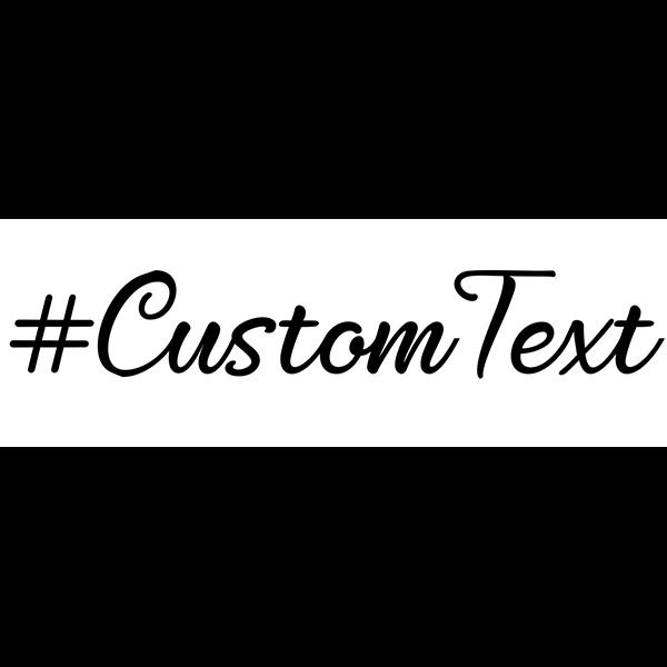 Custom Text Script Hashtag Rubber Stamp