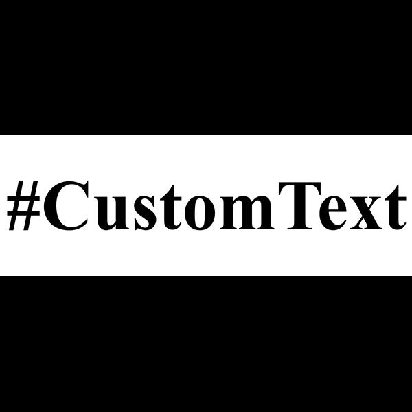 Custom Text Serif Hashtag Rubber Stamp
