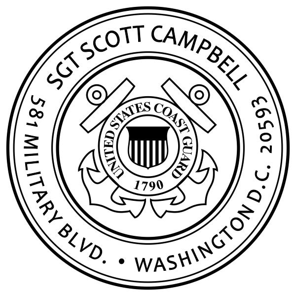 Return Address United States Coast Guard Stamp