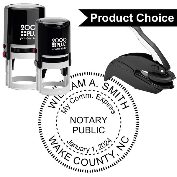 North Carolina Notary Round With Expiration Date
