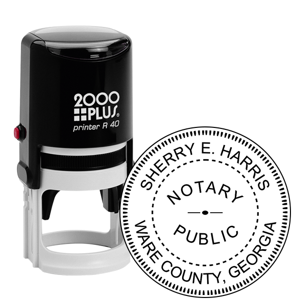 Georgia Round Notary Public Stamp Seal
