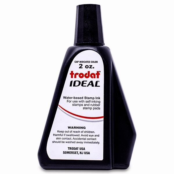 trodat ideal self inking stamp ink refill bottle