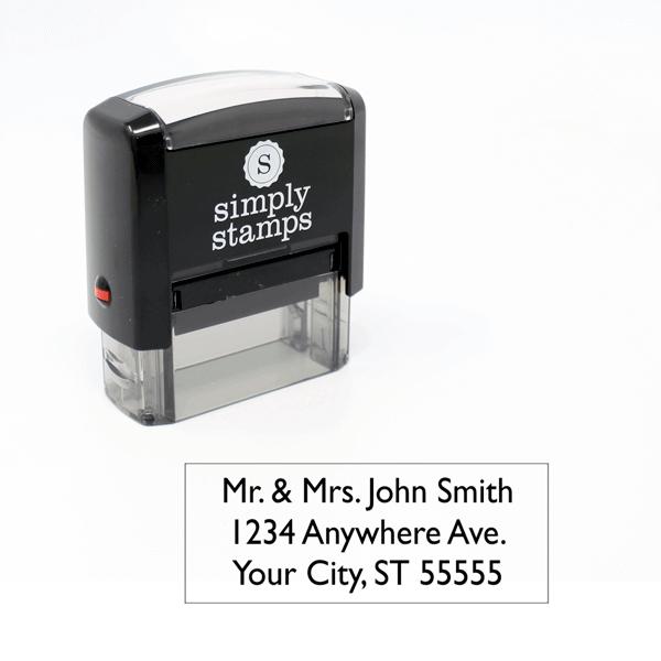 2 line rubber address stamp
