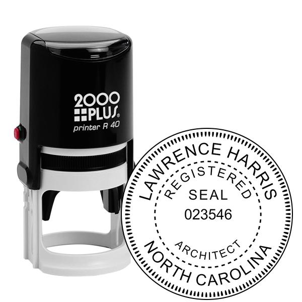 State of North Carolina Architect Seal