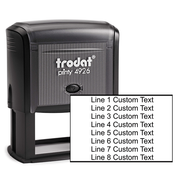 8 Line Custom Rubber Stamp