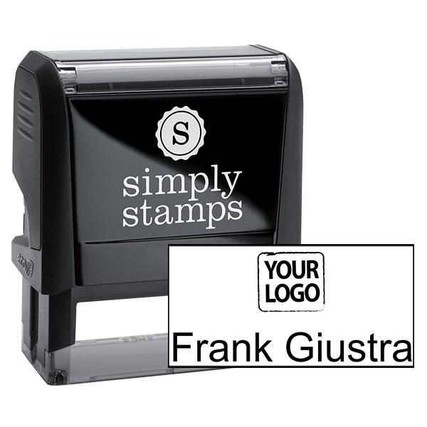Self-Inking Logo Stamp with Your Name