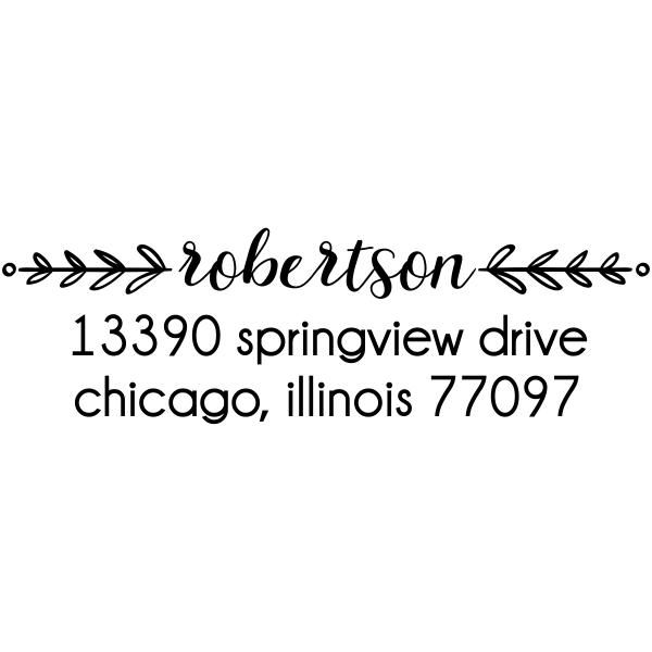 Laurel Robertson Rectangular Address Stamp