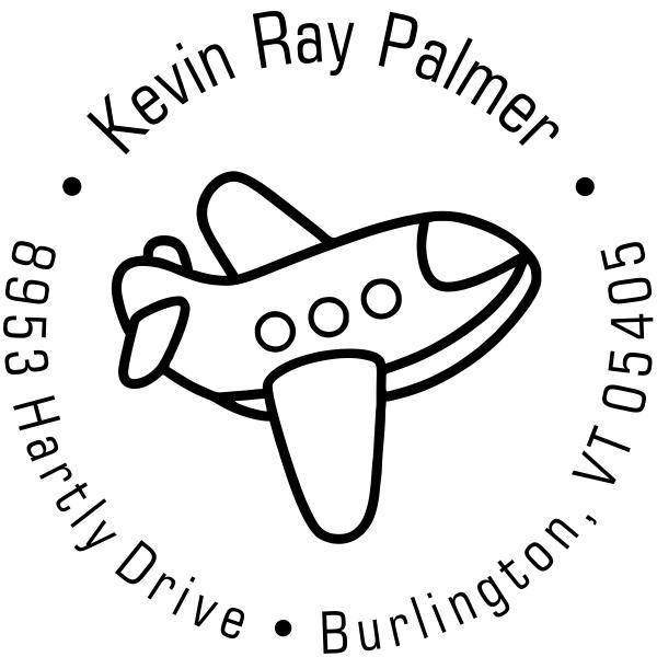 Toy Plane Return Address Stamp