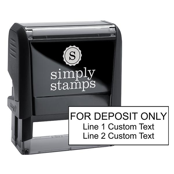 3 Line Deposit Only Stamp