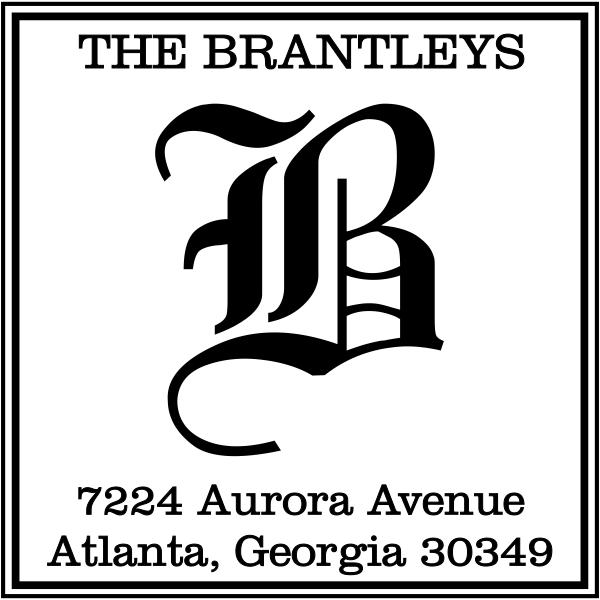 Square Letter Address Stamp