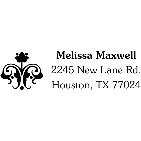 Flower Ornament Address Stamp