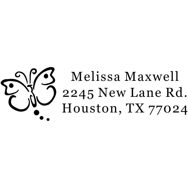 Butterfly Art Address Stamp