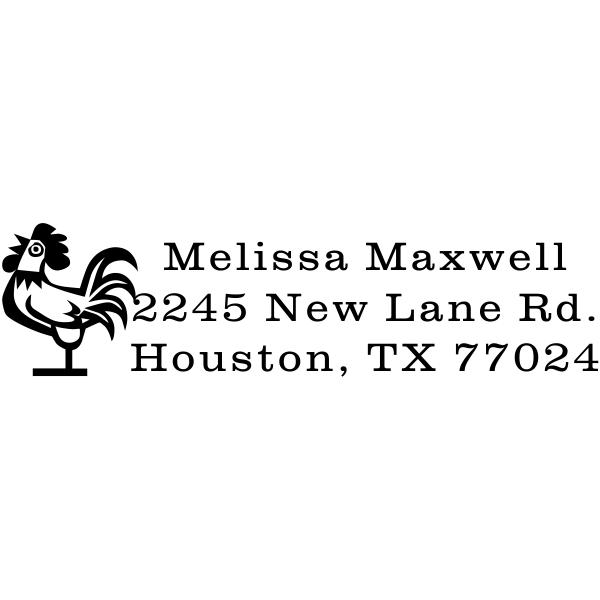 Rooster Address Stamp