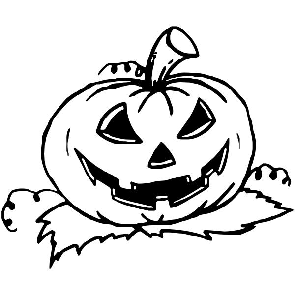 Evil Pumpkin Halloween Rubber Stamp