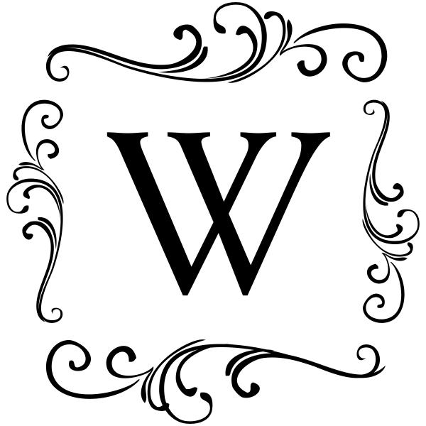 Elegant Scroll Monogram Stamp