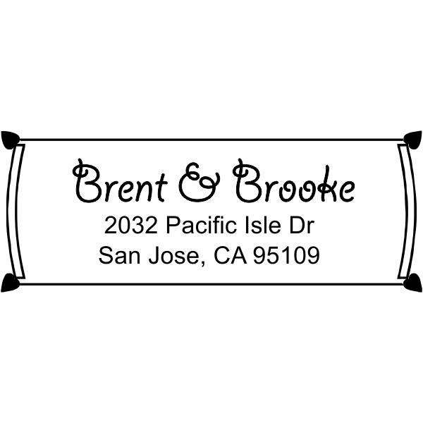 Rectangle Address Stamp