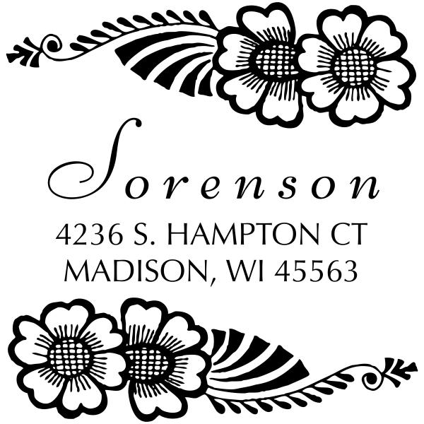 Sorensen Flowers Address Stamp