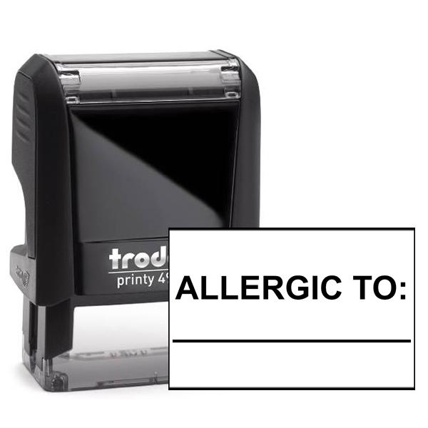 Allergic To Medical Stamp