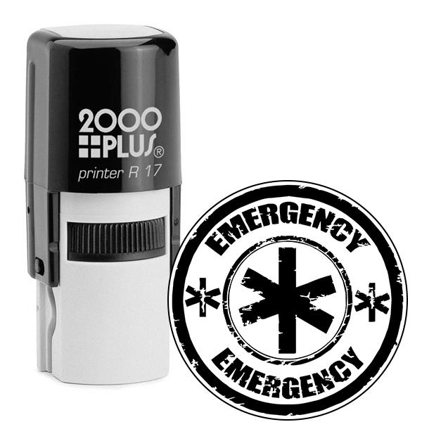 Round Emergency Stamp