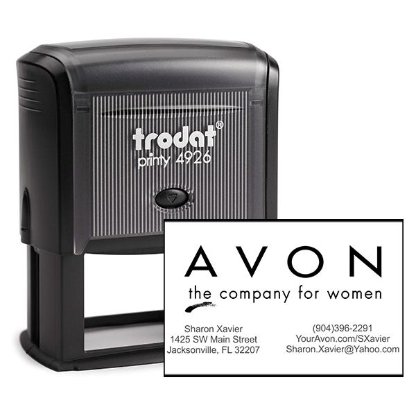 Custom Avon Consultant Stamp Style 3