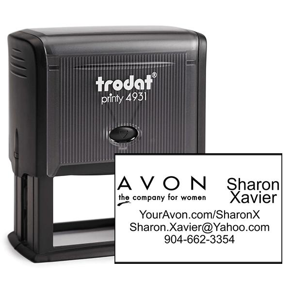 Custom Avon Consultant Stamp Style 6