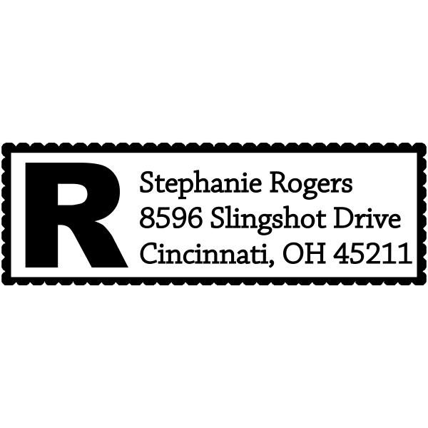 Bold Letter Address Stamp