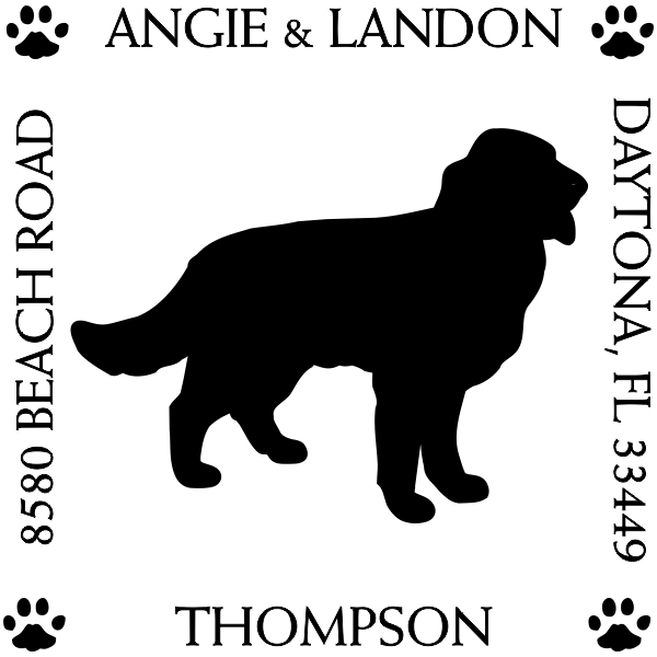 Golden Retriever Pet Lover Dog Return Address Stamp