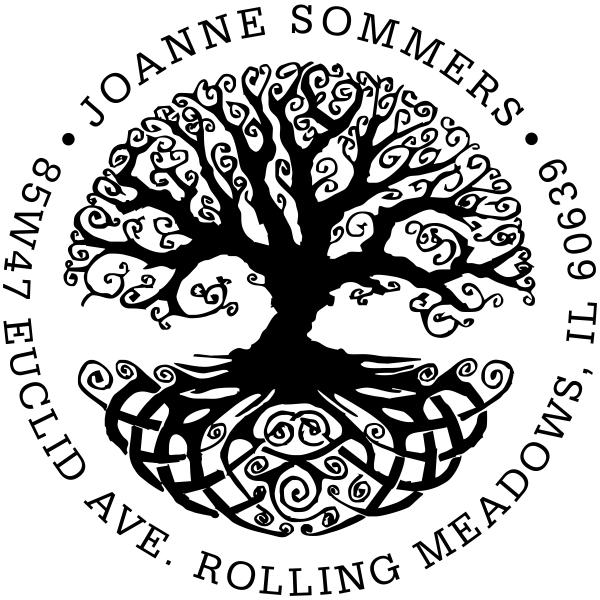 Tree of Life Return Address Stamp