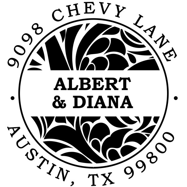 Albert Round Return Address Stamp