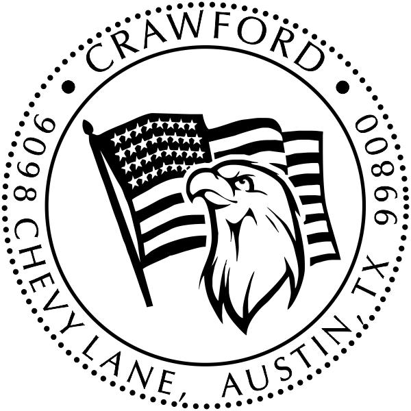Eagle Freedom Return Address Stamp