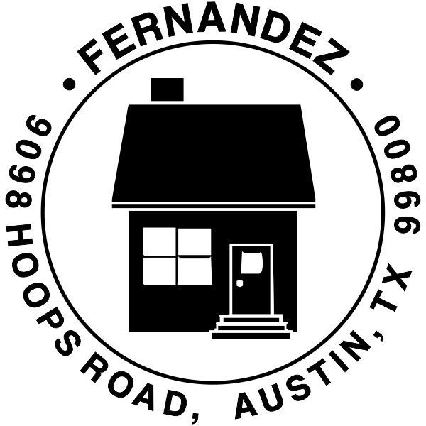 Home Round Return Address Stamp