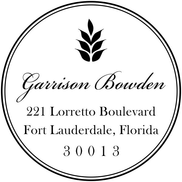 custom round rubber address stamp