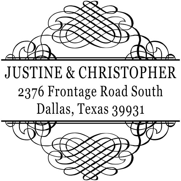 Justine Address Stamp