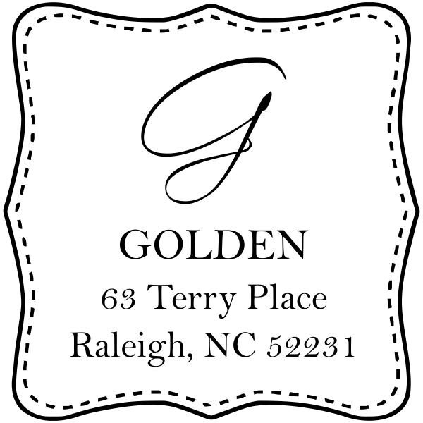 Golden Square Address Stamp