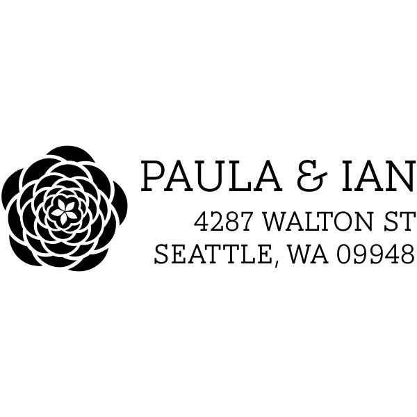 Walton Open Flower Address Stamp