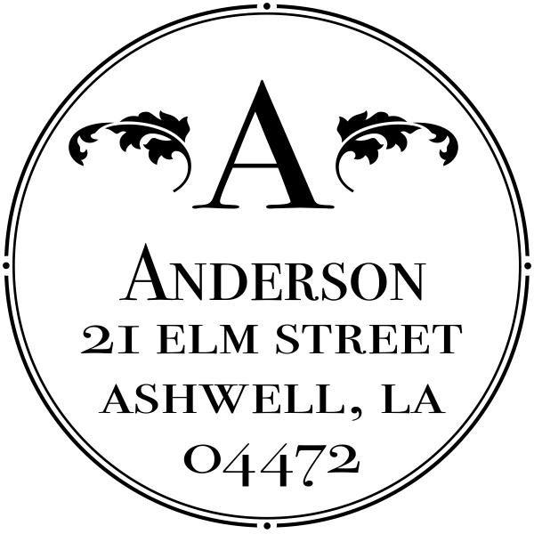 Ashwell Round Address Stamp