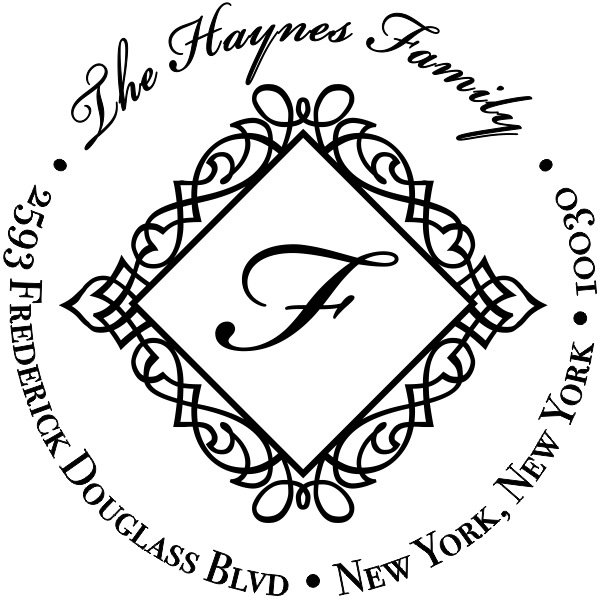 Haynes Diamond Address Stamp