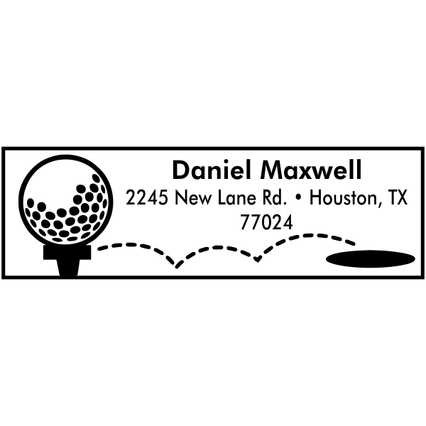 Maxwell Golf Tee Address Stamp
