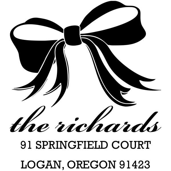 Richards Bow Address Stamp